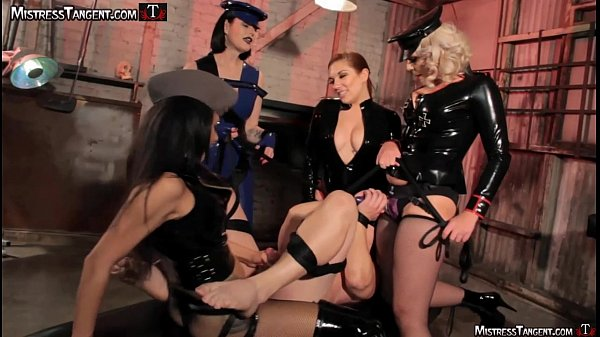 Femdom gang bang four gorgeous Dommes