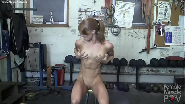 Muscular Female Redhead Gets Groped in POV