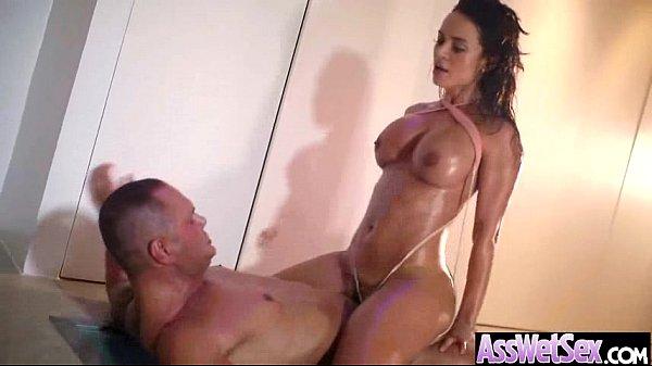 (franceska jaimes) Deep Anal Sex With Oiled Cur...