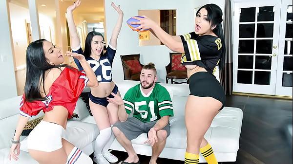 Three Gorgeous Latina Hotties Are Better Than Football and TV - Carolina Cortez, Tia Cyrus, Mandy Muse