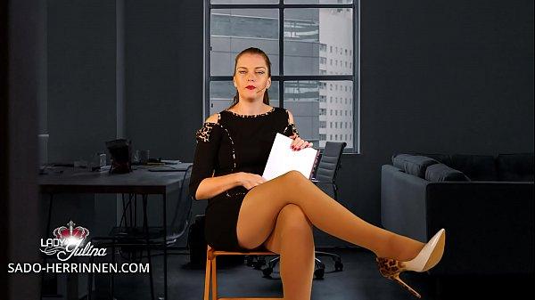 Application at Office Mistress Lady Julina as Nylon-, Shoe- & Foot Slave