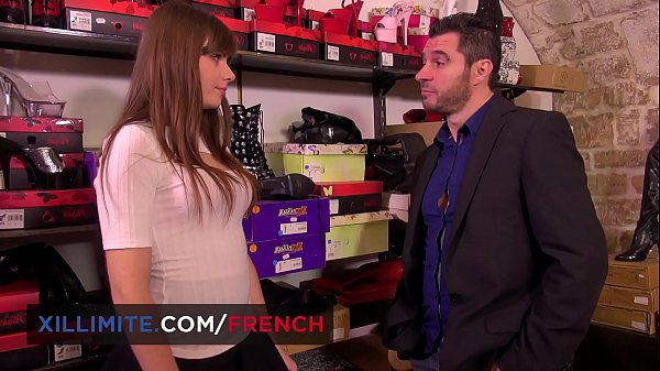 Cute French shoes seller Luna Rival anal fun Thumb