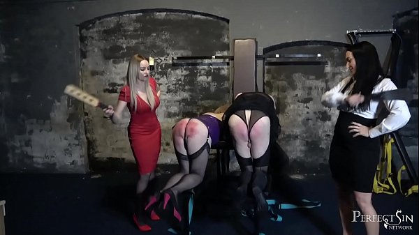 Busted Sissy Maids - Miss Jessica Wood and Mistress Chloe Lovette Punish Naughty slaves Thumb