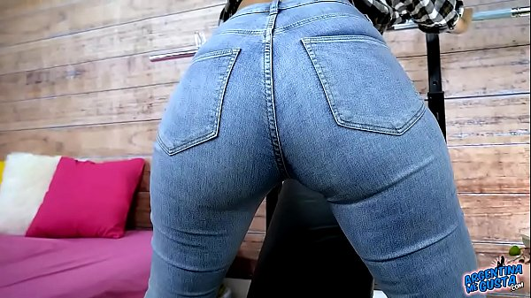 Amazing BUBBLE BUTT BUSTY Latina in Tight Jeans and Thong