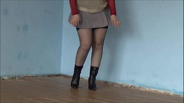 Miniskirt  no panties Thumb