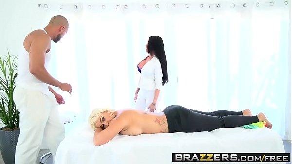 Brazzers - Dirty Masseur - Nina Kayy Raven Bay and Karlo Karerra - Masseuse Training 101