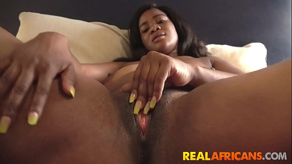 African Teen Busted While Masturbating Then Fuc...