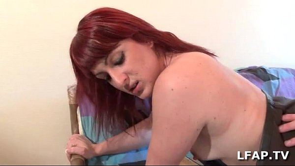 Pretty redhead libertine gets fucked in all directions