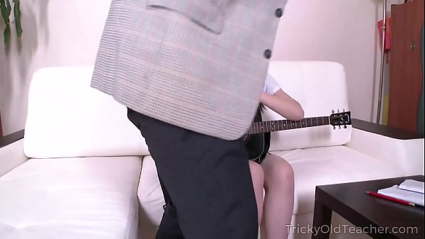 Tricky Old Teacher - Sexy brunette asks a teacher for private lessons