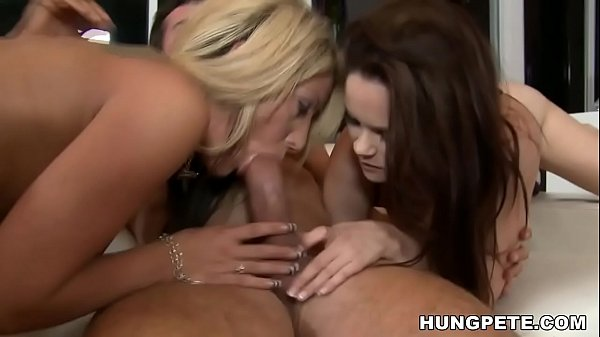 Holly Taylor and Jenna J Ross share Peter North's facial cumshot! Thumb