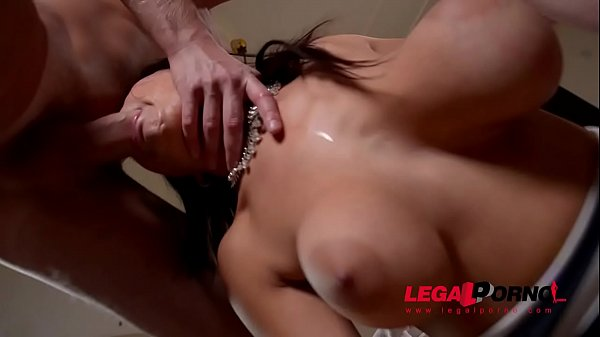 Top-heavy double dick addict Susana Alcala DP'ed until she screams & creams GP574