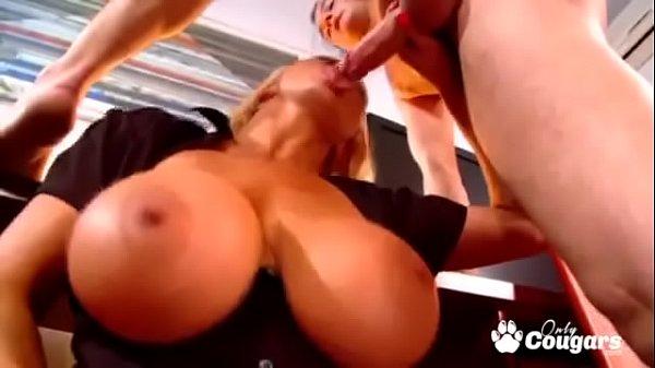MILF Sharon Pink Fucked Over Her Desk