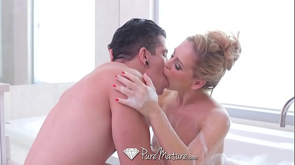 PUREMATURE Busty MILF Cherie Deville fucked wit...
