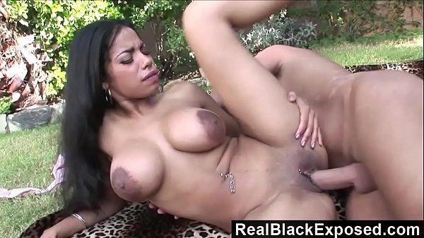 RealBlackExposed - Huge Nipple Havana Ginger Fucks In Public Thumb