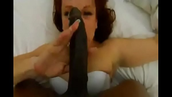 White woman deep throats 13 inch black dick