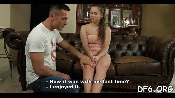 Slutty stag shows his virgin gf pleasures of ad...