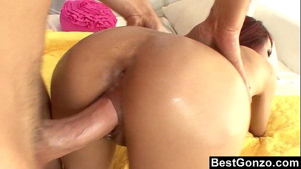 Oiled Up Babe Gets It In Her Pierced Pussy
