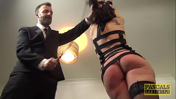 Handsome British skank gagged and dommed by big...