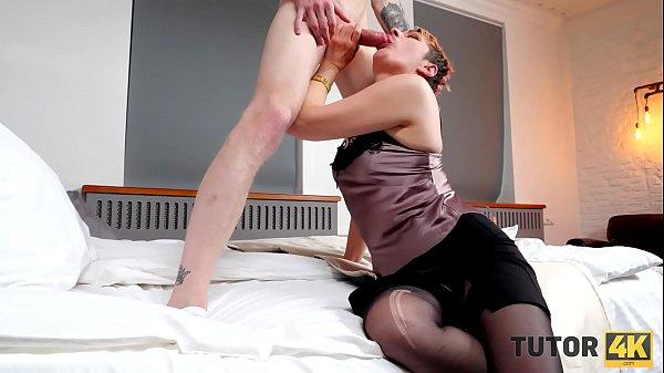 TUTOR4K. Tutor makes man weak in his knees so he cant stop fucking MILF