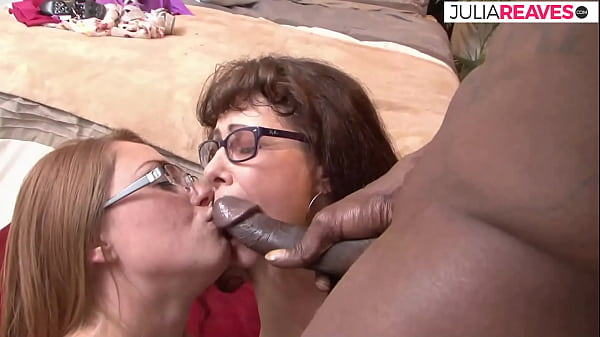 Mother and daughter are waiting for the big cock for group sex with her neighbour