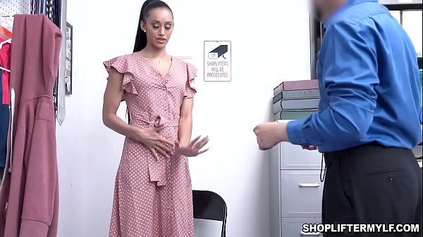 Gia Vendetti is a sexy Latina MILF shoplifter t...