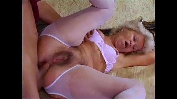 Horny granny Francsina knows how to seduce youn...