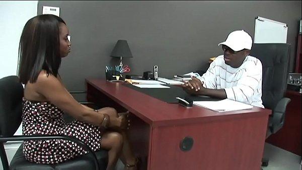 Black stud gets to fuck a hot Ebony Girl in his Office.xxblacks.com