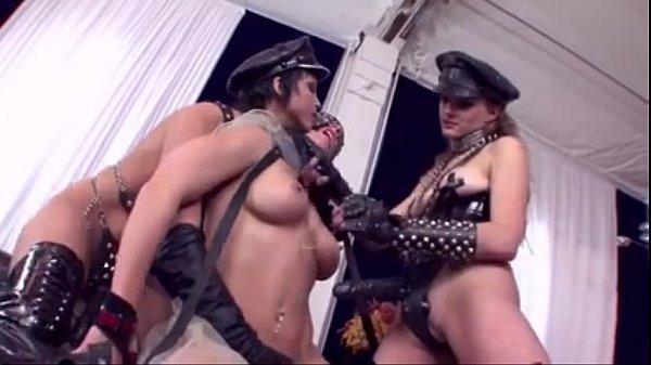 Lesbian Trio Strap on Anal DP