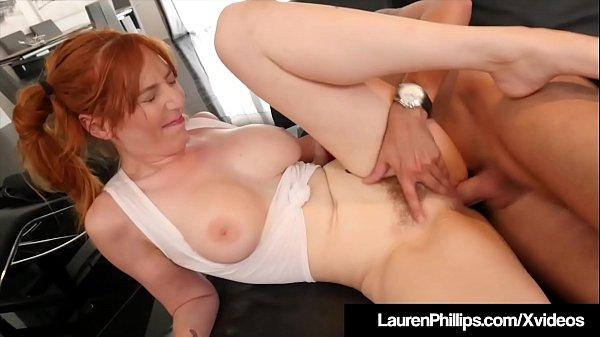 Ginger Bush Lauren Phillips Is Pussy Pounded By Horny Cock! Thumb