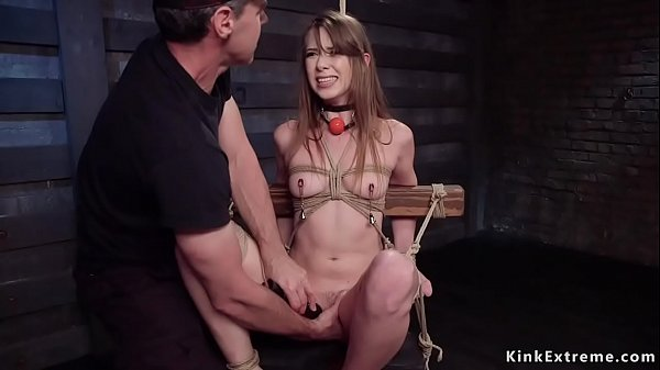 Brunette slut gets hardcore training