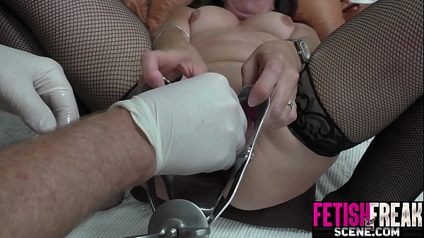 Extreme pussy gapping with vaginal speculum