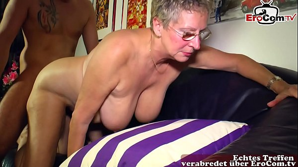 mature german woman with short hair fucks younger guy