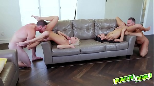 Emma Hix and Katya Rodriguez bouncing their young pussies on top!