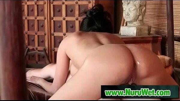 Busty masseuse gives nuru gel massage - Romeo Price, Anissa Kate