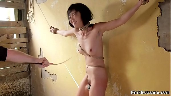 Slim Asian tormented and anal banged
