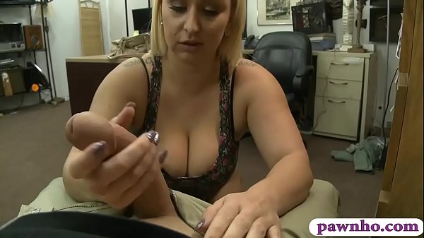 Bubble butt and big boobs blond babe nailed by pawn man