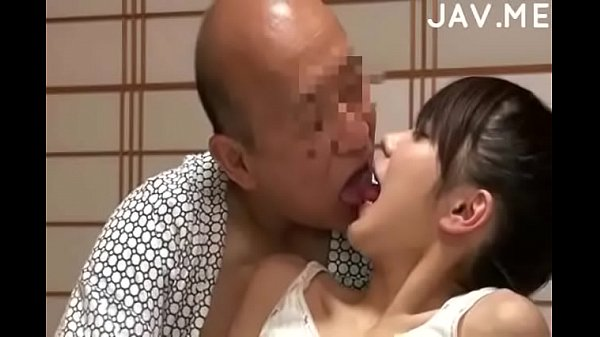 Delicious Japanese girl with natural tits surprises old man –