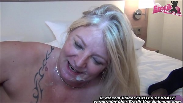 Fat german housewife make BEST BLOWJOB and swal...