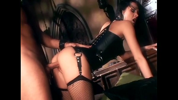 Alektra in boots and fishnet stockings fucking
