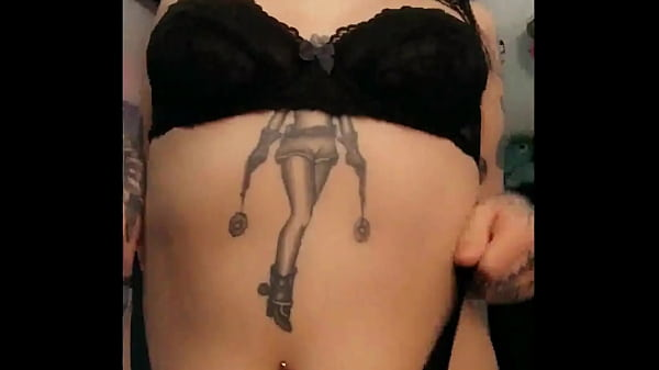 goth tattoo babe Shelby showing off amazing ass and tits Thumb