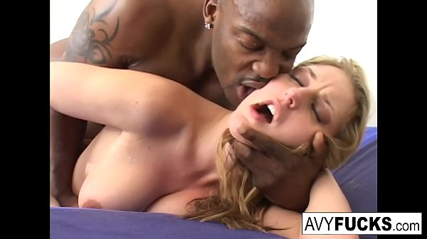 Sexy Avy Scott has a nice little treat with some black dick