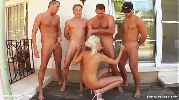 Group cumshots for Bridget on Cum For Cover in ...