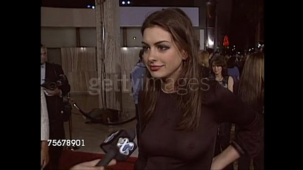 Anne Hathaway in her infamous see-through top