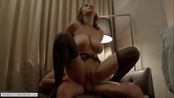 Tonight's Girlfriend - Gabbie Carter satisfies client with her giant tits