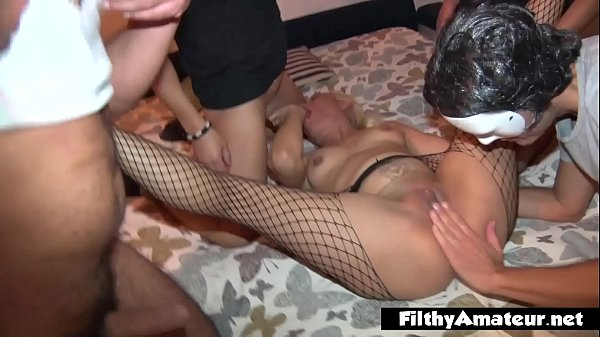The greedy housewife with cocks, the woman next door in an orgy with men and women Thumb