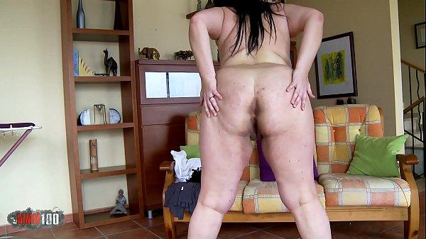 Big fat amateur babe striptease