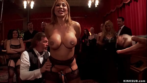 Huge tits MILF anal fucked at party