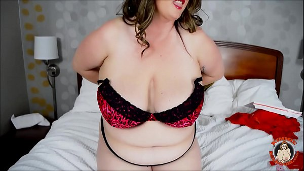 BBW Kimmie KaBoom Loves To Play With Her Twat on Valentine's Day! Giggling Ginormous Tits!!