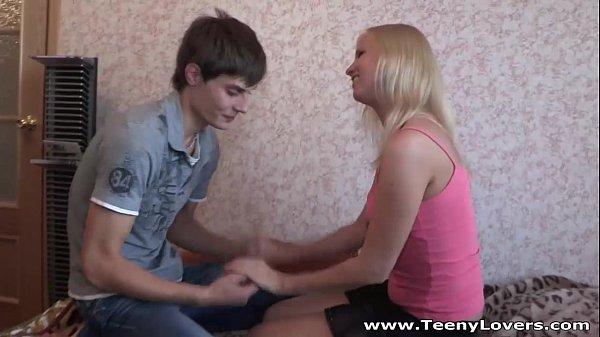 Blonde teeny Hailey taking balls deep