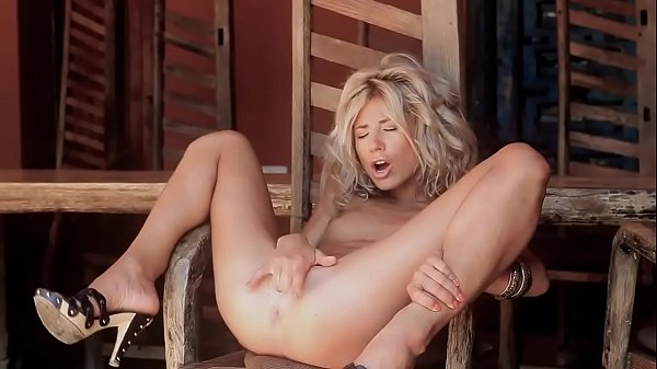 Cute blonde girl masturbate
